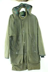 Beaver Of Bolton Men's Green Wax Jacket With Detachable Hood Ch 42'