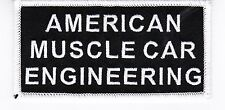 AMERICAN MUSCLE IRON ON PATCH EMBROIDERED CHRYSLER FORD PONTIAC MERCURY PLYMOUTH