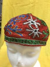 Uzbekistan Silk Embroidered Suzani Traditional Handmade Hat Cap Tubeteika F47