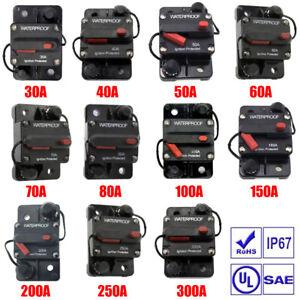 30 - 300 A Automatische Sicherung Automat Automatik Schalter KFZ Auto 12V / 24V