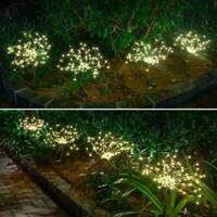 150 LEDs Solar Firework Lights Waterproof Outdoor Path Lawn Garden Lamp Decor