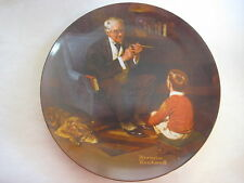 "Bradford Exchange Norman Rockwell The Tycoon Knowles Plate, 8 1/2"" Diameter"