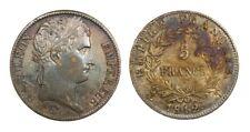 Antique 5 Francs Silver Coin Bonaparte Napoleon France 1812-T Nantes
