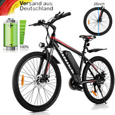 Elektrofahrrad 26 Zoll E-bike Mountainbike 250W 36V / 10.4Ah Pedelec Shimano Rot
