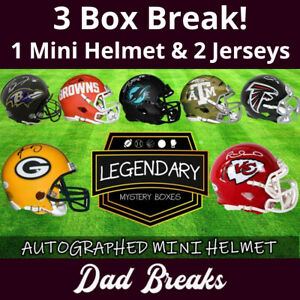 MIAMI DOLPHINS 2021 autographed Mini-Helmet + 2 signed Jerseys: 3 BOX LIVE BREAK