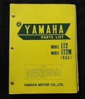 "1972 1973 YAMAHA 100cc ""MODEL LT2 LT2M LT3 ENDURO DIRT"" MOTORCYCLE PARTS MANUAL"
