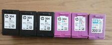 Empty HP ink cartridges. Job lot 304 / 300