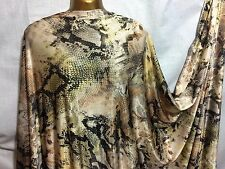 NEW*Multi Coloured African/Snake Print Stretch Lycra Dress/Craft/Party Fabric