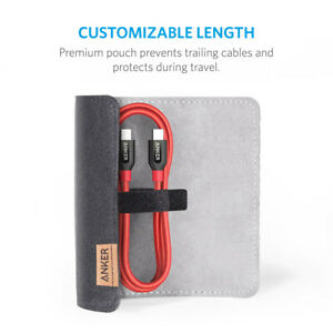 Anker Powerline+ USB C to USB-C 2.0 Cable Power Delivery PD Charging Hi-Speed 3f