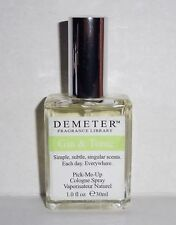 DEMETER FRAGRANCE LIBRARY GIN & TONIC PICK-ME-UP 1 oz. COLOGNE SPRAY PERFUME NEW