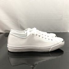 Converse Jack Purcell OX White/Navy Leather Sneaker 1S961 Men Size 9.5