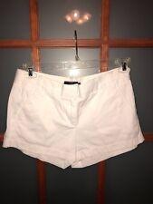 J.CREW Women's White Chino Denim Shorts 100% Cotton Size 6