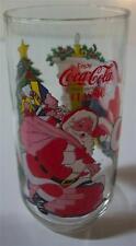 """Coca-Cola Coke SANTA CLAUS CHRISTMAS 6"""" COLLECTOR'S GLASS CUP 16 oz."""