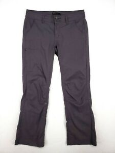 PrAna Womens Gray RollUp Cargo Hiking Pants Size 8 Short Comfort Stretch Outdoor