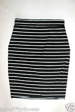 NWT bebe black white striped stretchy cutout contrast sexy dress skirt XS
