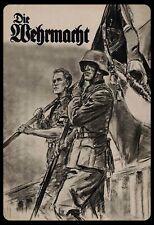 Die Wehrmacht Soldaten Blechschild Schild gewölbt Tin Sign 20 x 30 cm SM0009-X