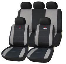universal Sitzbezüge für Auto Schonbezug Schoner Komplettset schwarz/grau SCSC01