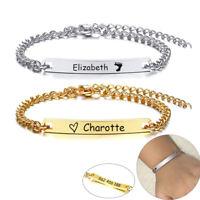Adjustable Kids Girl Boy Baby ID Bracelets Anti Allergy Child Jewelry Custom Nam