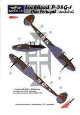 LF Models Decals 1/72 LOCKHEED P-38G-1 LIGHTNING OVER PORTUGAL