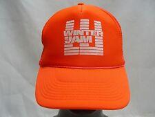 WINTER JAM - BRIGHT ORANGE - TRUCKER STYLE - ADJUSTABLE SNAPBACK BALL CAP HAT!