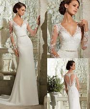 2015 New White ivory Wedding dress Bridal Gown custom size 6 8 10 12 14 16