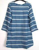 New Seasalt Calenick Striped Linen Blend Tunic Top - Blue - 10 - 22