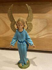Vintage Fontanini Depose Italy Blue Robe Angel Nativity Figure Spider Mark 51