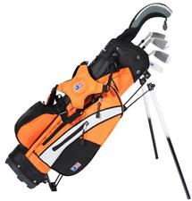 Left Hand UL51 5-Club Stand Bag Set WT-20u, Grey/Orange Bag (MSRP $189)
