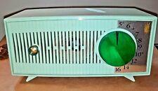 1950s Mid-Century Zenith Radio A510-F Tube Radio Working Rare Seafoam Green