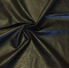 Genuine Leather Hides Skins Crocodile Embossed 1 Oz Skin #3025 Brown