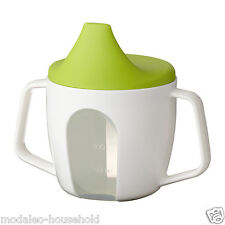 IKEA BÖRJA Borja Baby Training Beakers/Sip Cups With Lids & Large Handle UK-B786