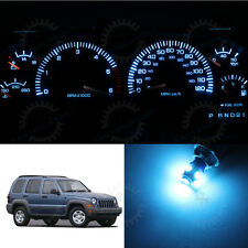 Full Set Dash Meter Gauge Cluster Ice Blue LED Bulbs for 2002-2007 Jeep Liberty