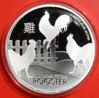 NIUE 2 Dollars 2016 Year of the Rooster- Jahr des Hahns 1 oz,  #F 2530 rare