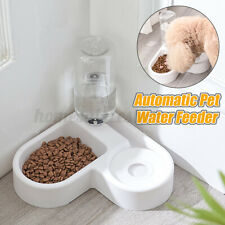 Automatic Cat Feeder Pet Dog Water Bottle Dispenser Travel Food Dish Bowl Us