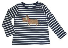 NEW Baby Boys Mini Boden Top Age 6 9 12 Months Stripy Dog Print T Shirt