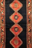 Handsome Hamadan - 1960s Vintage Persian Rug - Tribal Runner - 3.7 x 10.2 ft.