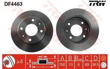 TRW Juego de 2 discos freno 250mm MITSUBISHI COLT SMART FORFOUR DF4463