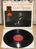 JUDY GARLAND Greatest Performances 1961 UK Original LP mono AH 11 jazz pop vinyl