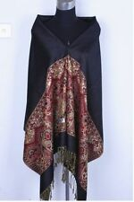 Hot New Pashmina Cashmere Womens Scarves Paisley Stole Shawl Wrap Scarf Black