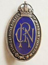More details for vintage silver enamel badge royal college of nursing