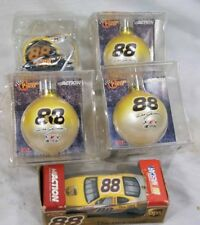 Lot of Dale Jarrett #88 NASCAR Ornaments (4) and Action Car (1)