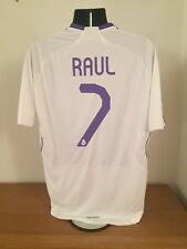 Real Madrid Home Shirt 2007/08 *RAUL 7* Large Vintage Rare