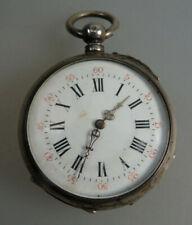 Schöne Herrentaschenuhr mit Schlüsselaufzug Silber um 1890 (60289)