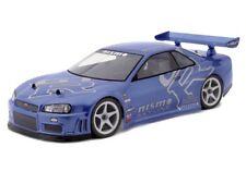 Custom Painted Body SKYLINE R34 GT-R for 1/10 RC Drift Cars Touring HPI 190mm