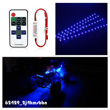 "4x Blue ATV UTV 12"" 30CM LED Light Strip Wireless Remote Control Kit For Yamaha"