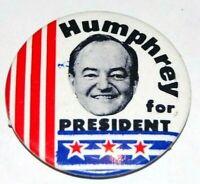 '68 HUBERT HUMPHREY 1.75 INCH campaign pin pinback button political presidential