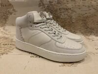 New Authentic COACH G1561 Mens C210 High Top Sneakers Chalk MSRP $275 Size 8