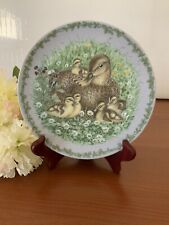 "Royal Copenhagen Nature's Children MALLARDS 6 1/2"" Limited Ed. Plate 2154 A."
