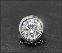 Diamant Brillant Anhänger mit 0,72ct, Top Wesselton, Gleiter/Reiter aus 585 Gold