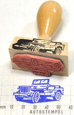 Jeep 1944 als Stempel mit Holzgriff - rubberstamp